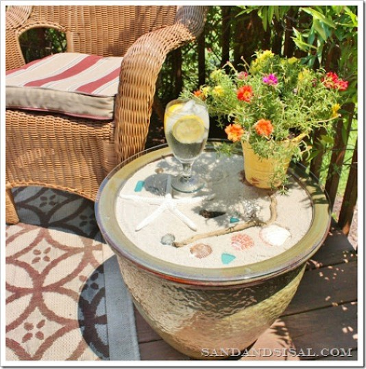 Ceramic Planter Side Table