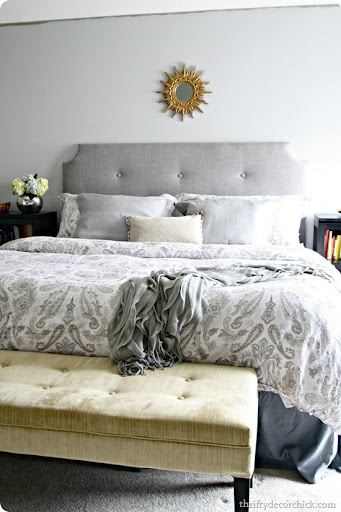 How to Make a DIY Tufted Headboard from Thrifty Decor Chick How to make a DIY tufted headboard for less than  100