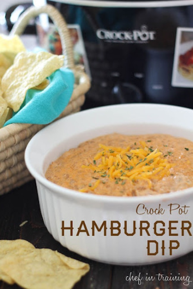 Crock Pot Hamburger Dip from Chef in Training