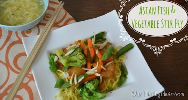Our Thrifty Ideas | Asian Fish & Vegetable Stir Fry {with Van de Kamp's fish and Birds Eye vegetables} | #FishnVeggies #Dinner