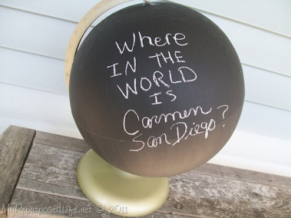 repurposed globe chalkboard paint (18)