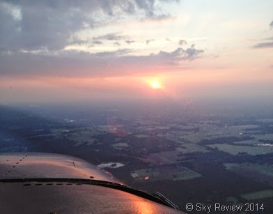Sky Review, flying into sunset, Aviation, Flying