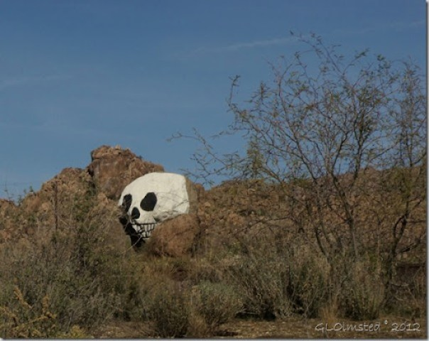 04 Skull painted on rock Date Creek Rd AZ (1024x812)