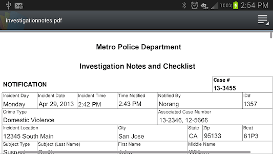 Police Investigation Notes screenshot 7
