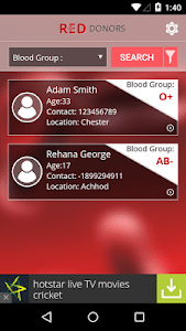 RED DONORS‏ screenshot 4