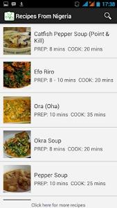 Recipes from Nigeria screenshot 7