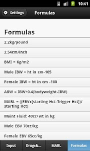 Anesthesia Calculator screenshot 1