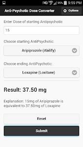 AntiPsychotic Dose Converter screenshot 0