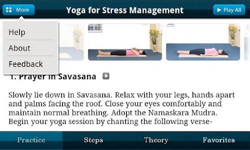 Yoga for Stress Management(L) screenshot 1