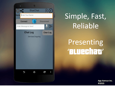 BlueChat Messenger (Bluetooth) screenshot 0