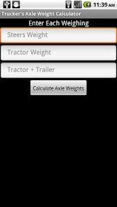 Trucker's Axle Weight Calc screenshot 0
