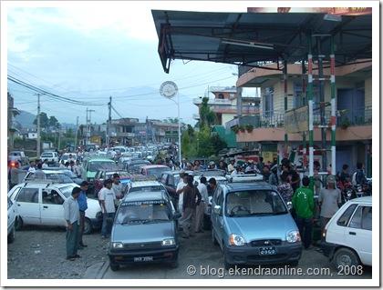 Petrol Scarcity in Nepal, Pokhara