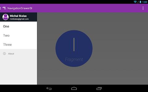 Navigation Drawer SI screenshot 6