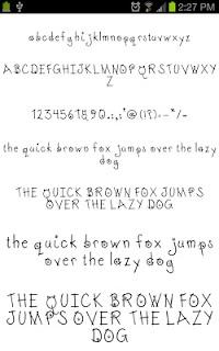 Neat Fonts for FlipFont free screenshot 03