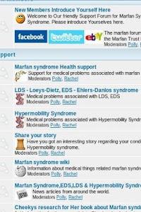 The Marfan Forum screenshot 2