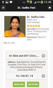 Dr Sudha Vani Appointments screenshot 0