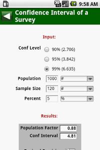MedCalc 3000 EBM Stats screenshot 2