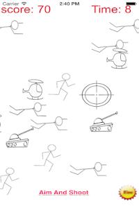 A Stickman Sniper 2 Doodle War screenshot 1