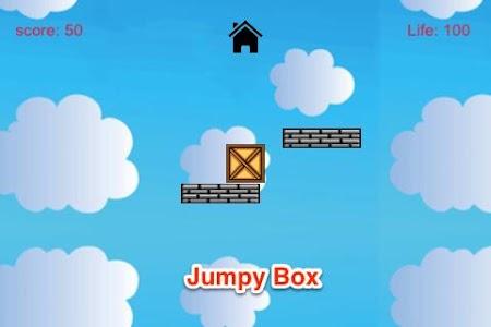 Jumpy Box: Cloudy Sky Fly Free screenshot 0