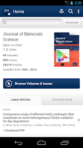 Journal of Material Science screenshot 0