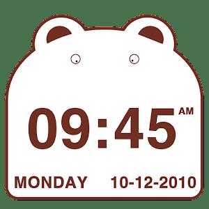 Cute Bear Clock Widget