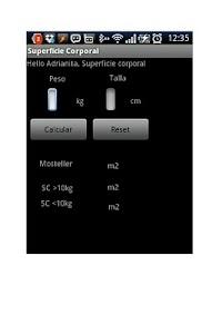 Body Surface Area screenshot 1