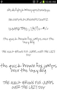Fonts Hand for FlipFont® Free screenshot 03
