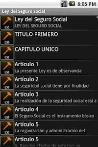 Ley del Seguro Social screenshot 1