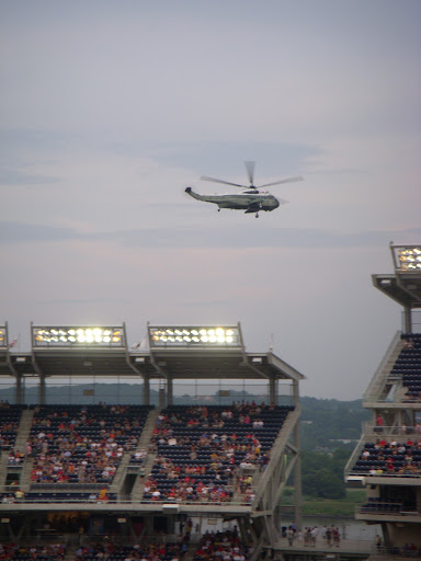 Helicopter flyover