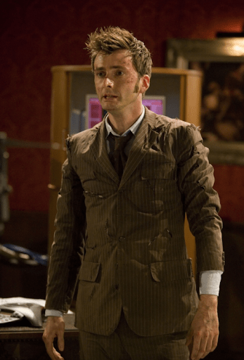 The Doctor looking rather rumpled in the 10th Doctor's finale episode