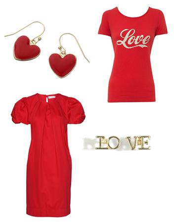 Red Love Heart Clothes and Accessories