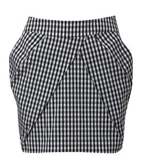Graphic Check Skirt by Karen Millen
