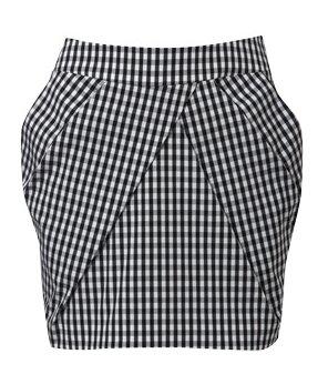 Graphic Check Skirt by Karen Millen