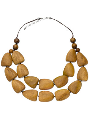 Statement Wooden Bead Necklace by Monsoon