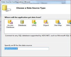 Selecting data Source