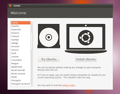 Ubuntu 10.10 installer screenshot