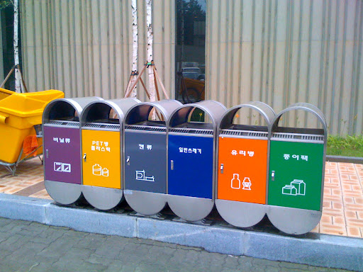 So many different types of waste bins