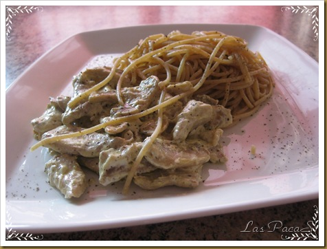Tiras de Solomillo con Espaguetis (1)