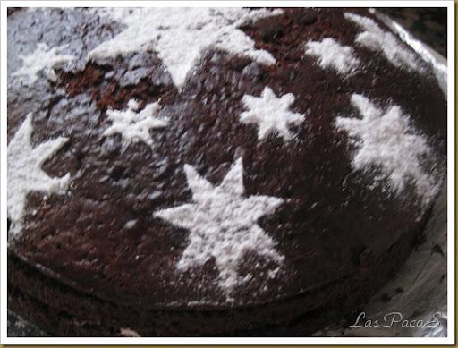 Bizcocho chocolate sin huevo