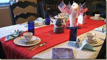 Tablescape Thursday 1 4th of July 009