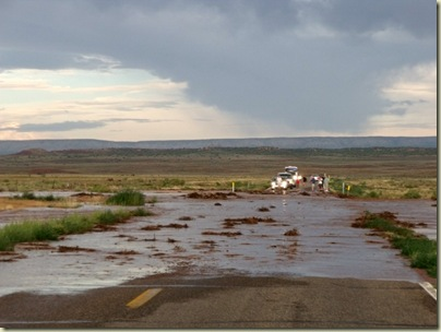 Second flash flood over Hwy 89A south of Fredonia Arizona