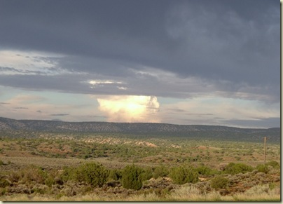 One cloud shines through the storm Hwy 89A Arizona