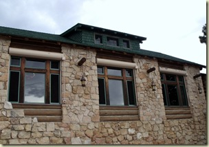 Auditorium from eastern veranda Grand Lodge North Rim Grand Canyon National Park Arizona