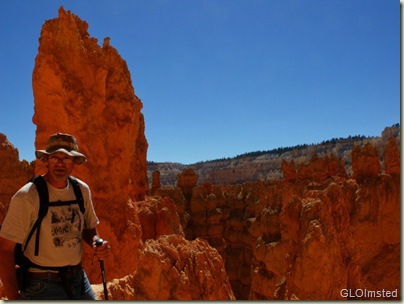 Mike along Wall Street Navajo Loop trail Bryce Canyon National Park Utah