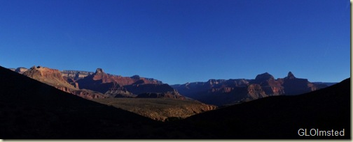 Cheops Pyramid and North Rim from Indian Garden Grand Canyon National Park Arizona