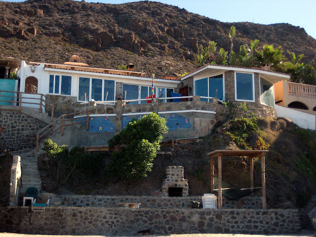 The view of the house from the beach
