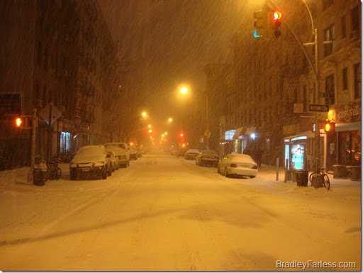 The corner of Avenue B and 13th Street, December 26th 2010.