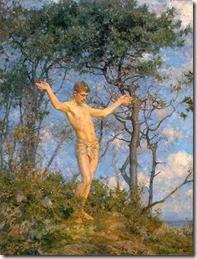 Tuke,_Henry_Scott_(1858–1929)_-_1904_-_The_sun_worshipper_(In_the_morning_sun)