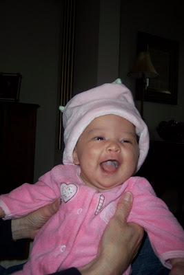 Hannah smiles!!!