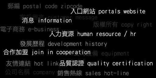 中英文對照表